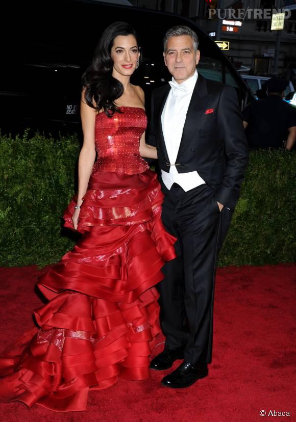 George Clooney et Amal Clooney, un couple ultra glmour sur le red carpet du Gala du MET en mai 2015.
