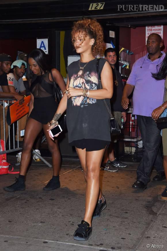 Rihanna, en sortie avec son nouveau petit ami.