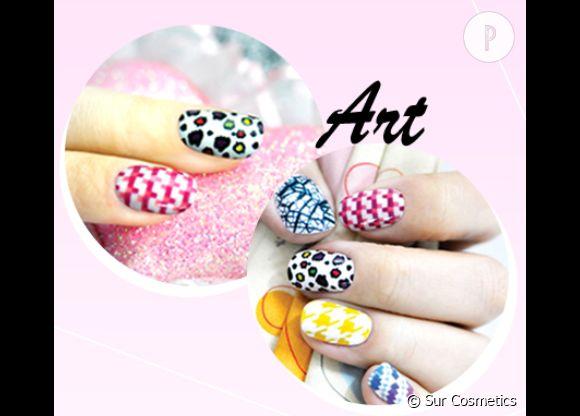La print manicure par Sur Cosmetics.