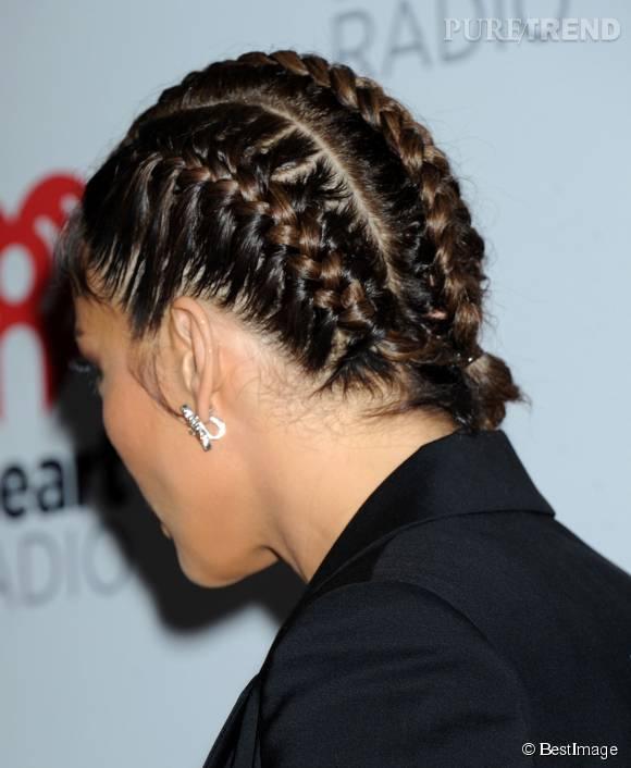 """Pour l""""occasion, Jennifer Lopez a tressé ses cheveux comme au bon vieux temps."""