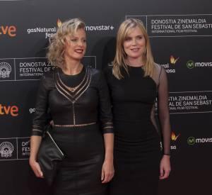 """Karin Viard et Isabelle Carré à la première de """"21 nuits avec Pattie"""" lors du Festival du film de San Sebastian le 20 septembre 2015."""