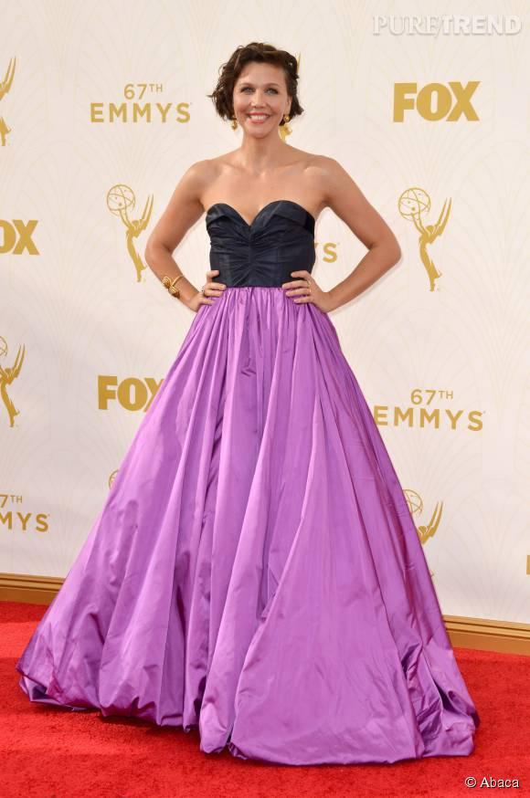 Top    Maggie Gyllenhaal ose le color block en Oscar de la Renta.