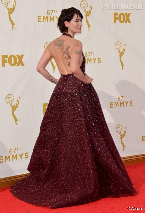 """Top    Lena Headey de """"Game of Thrones"""" en Zuhair Murad couture."""