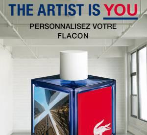 Lacoste L!VE : soyez l'artiste et customisez votre flacon de parfum