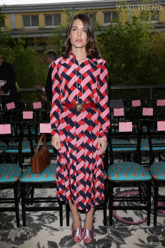 Charlotte Casiraghi, l'atout charme du front row Gucci Printemps-Été 2016.