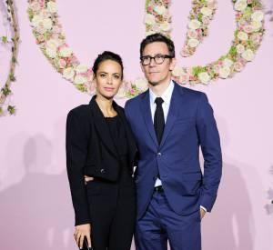 Le couple Bérénice Béjo, en Alexis Mabille, et Michel Hazanavicius à la soirée de lancement de la saison 2015/2016 du palais Garnier.
