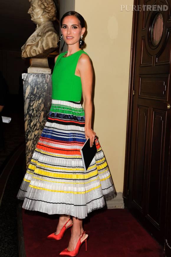 Natalie Portman à la soirée de lancement de la saison 2015/2016 du palais Garnier.