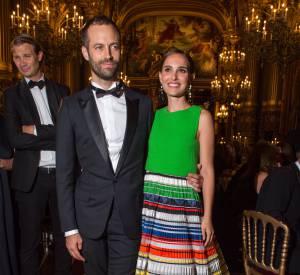 Le couple Natalie Portman et Benjamin Millepied à la soirée de lancement de la saison 2015/2016 du palais Garnier.
