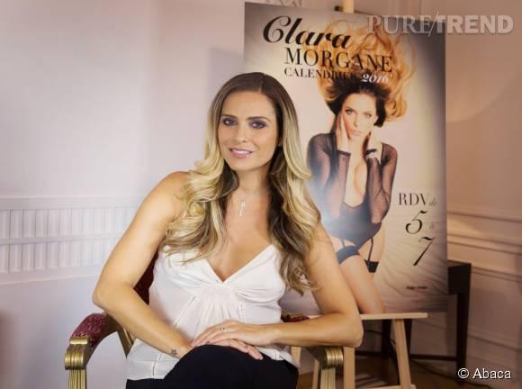 Clara Morgane, radieuse pour le lancement de son calendrier 2016.