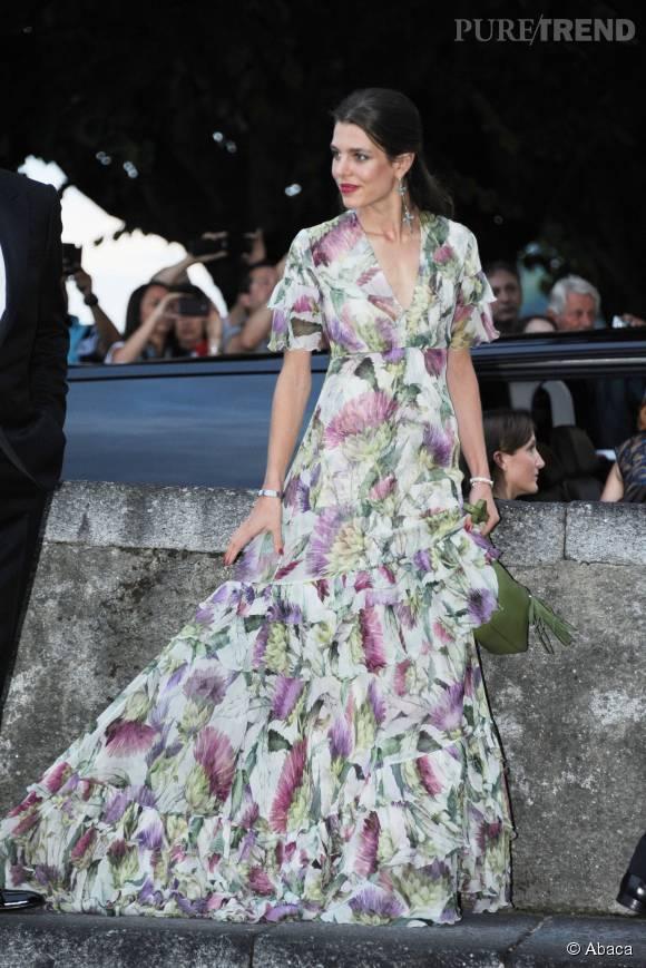Charlotte Casiraghi, tout simplement magnifique au mariage de son frère Pierre Casiraghi, en août dernier.