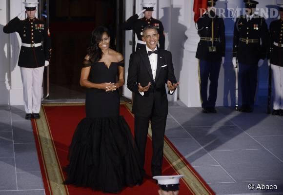 Michelle et Barack Obama, couple très glamour.