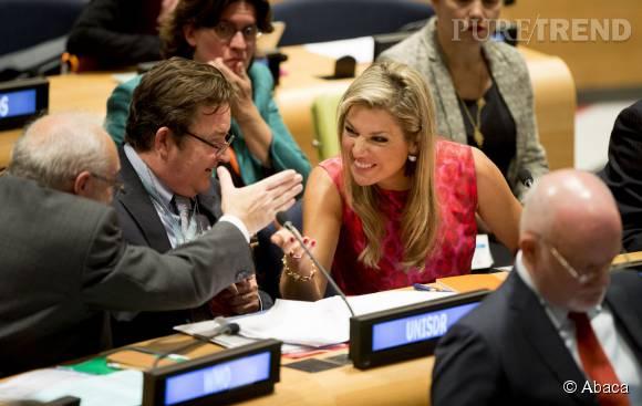 Maxima des Pays-Bas, très concernée par la conférence sur le climat au diège des Nations Unis à New York.