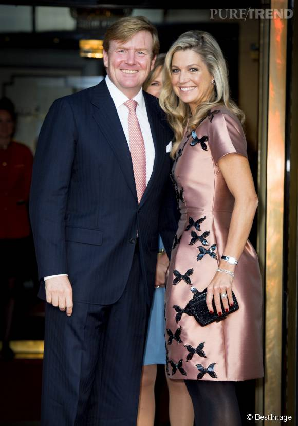 Maxima des Pays-Bas et son mari, lors de l'anniversaire de la Couronne des Pays Bas.