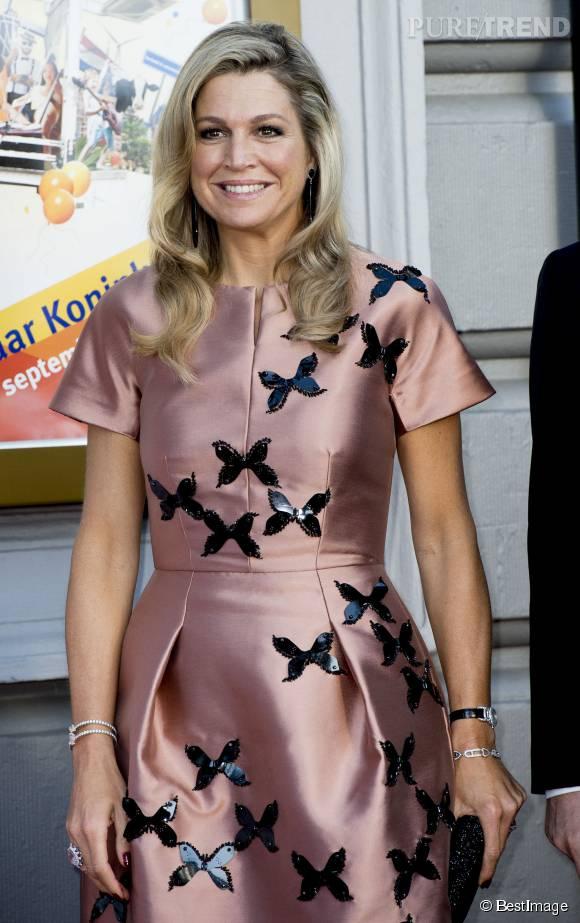 Maxima des Pays-Bas aime les vêtements girly : plus ça brille, plus c'est rose et mieux c'est. Si en plus, on peut rajouter des papillons, c'est le top.