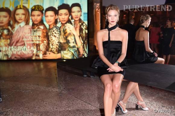 Karlie Kloss super sexy pour les dix ans de Vogue Chine.