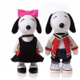 Snoopy et Belle par Lisa Perry.
