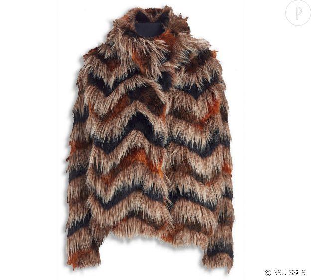 Manteau en fausse fourrure Next, 88 euros.