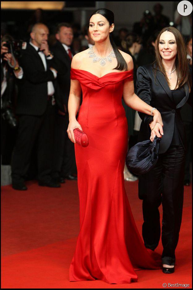 Monica Bellucci, flamboyante au 62e Festival de Cannes.