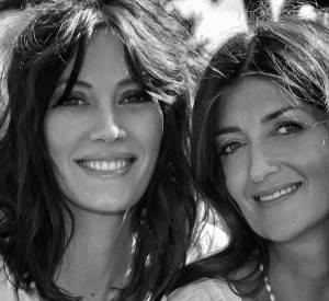 Mareva Galanter et la nutritionniste Valérie Espinas qui a conçu toutes les recettes de jus.