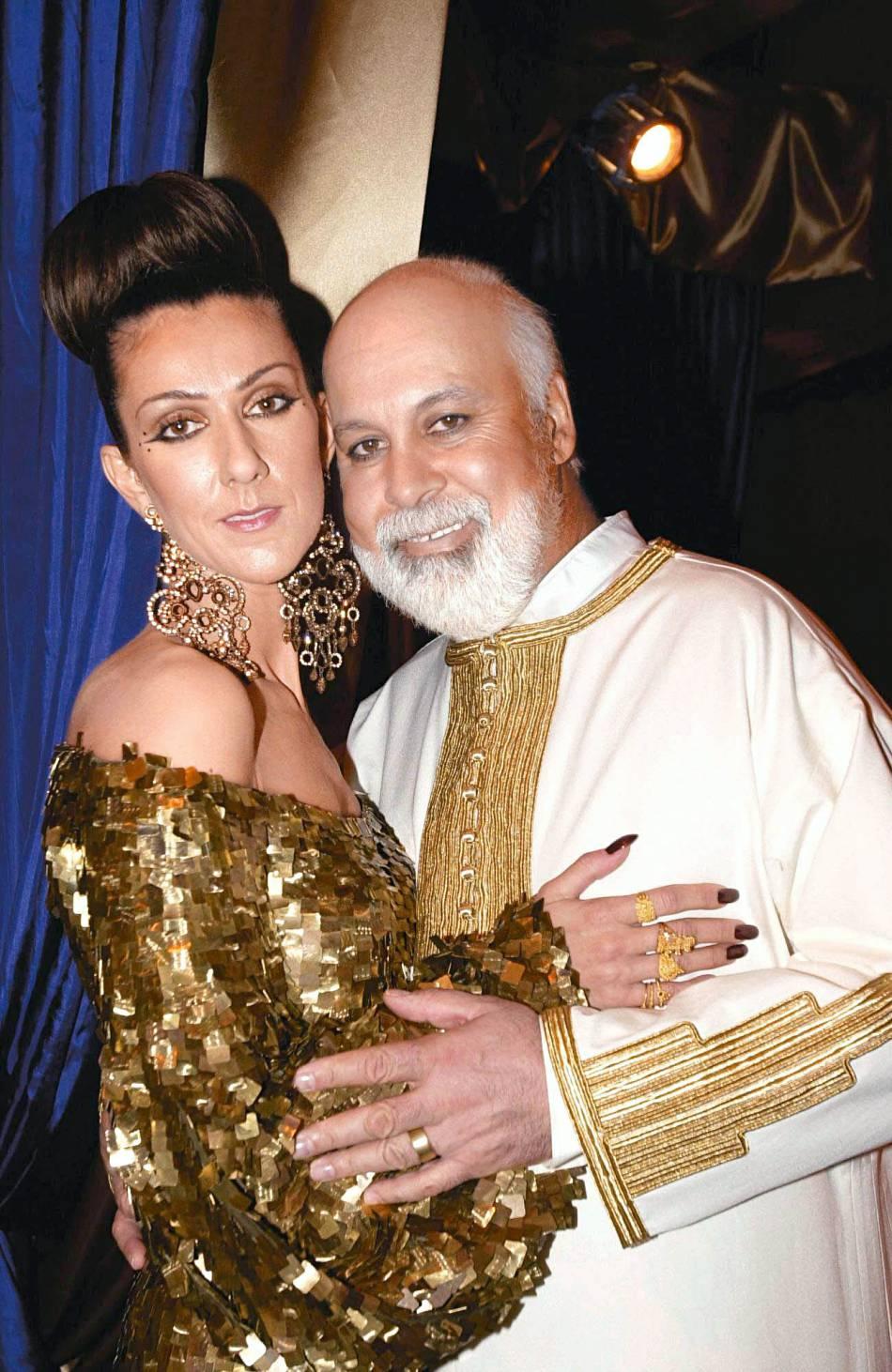 Céline Dion et René Angelil lors de leur re,mariage à Las Vegas le 5