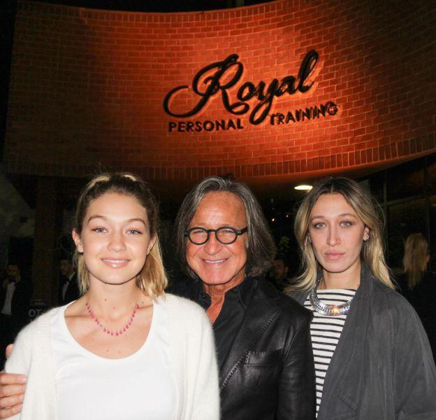Gigi Hadid, son père Mohamed et sa soeur Alana Hadid.