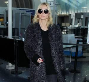 Heidi Klum : manteau doudou et slim destroy... un look à shopper !