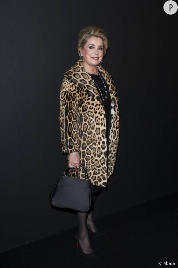 Catherine Deneuve, une grande amatrice de l'imprimé léopard.