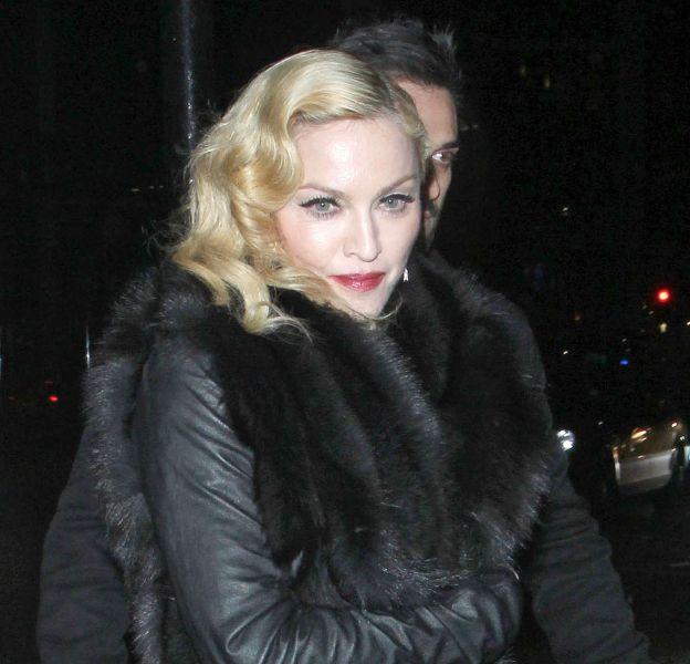 Madonna en concert à Manchester.