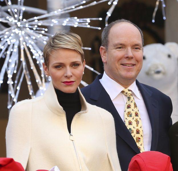 Charlène de Monaco et Albert II de Monaco, ce mercredi 16 décembre 2015.