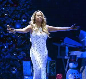 Mariah Carey, reine de Noël : deux tenues moulantes et scintillantes à NY