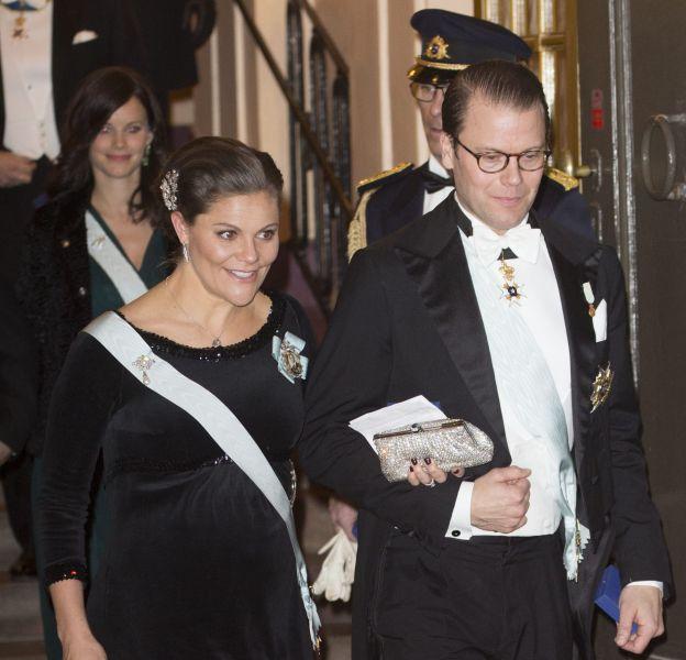 Victoria de Suède et son mari, Daniel Westling, ce dimanche 20 décembre 2015.