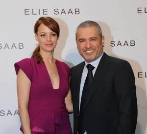 Bérénice Bejo et Elie Saab lors du défilé de ce dernier en janvier 2012.