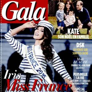 Iris Mittenaere en couverture du dernier numéro Gala, actuellement dans les kiosques.