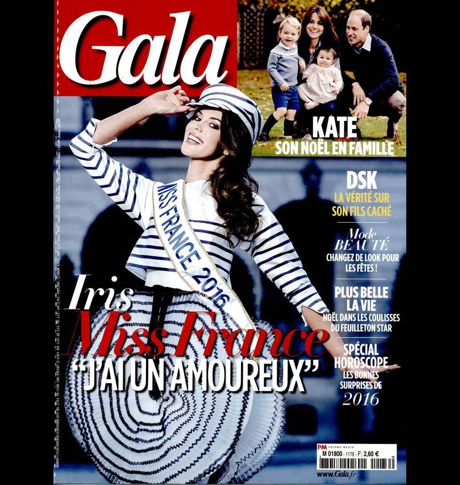 Iris Mittenaere en couverture du dernier numéro  Gala , actuellement dans les kiosques.