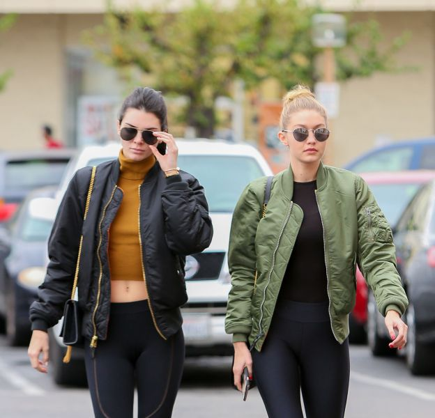 Kendall Jenner et Gigi Hadid : deux soeurs jumelles dans les rues de Los Angeles.