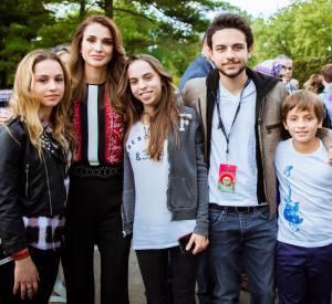 Rania de Jordanie et ses enfants en 2015.