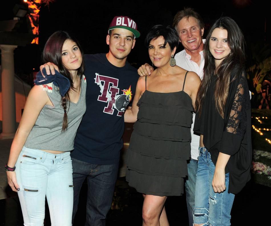 Rob Kardashian en famille en 2010.