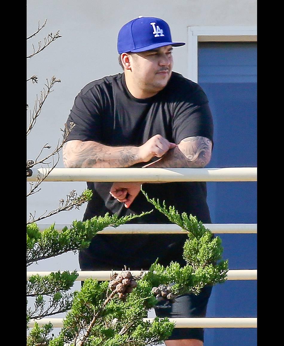 Rob Kardashian quelques kilos en plus en 2014.