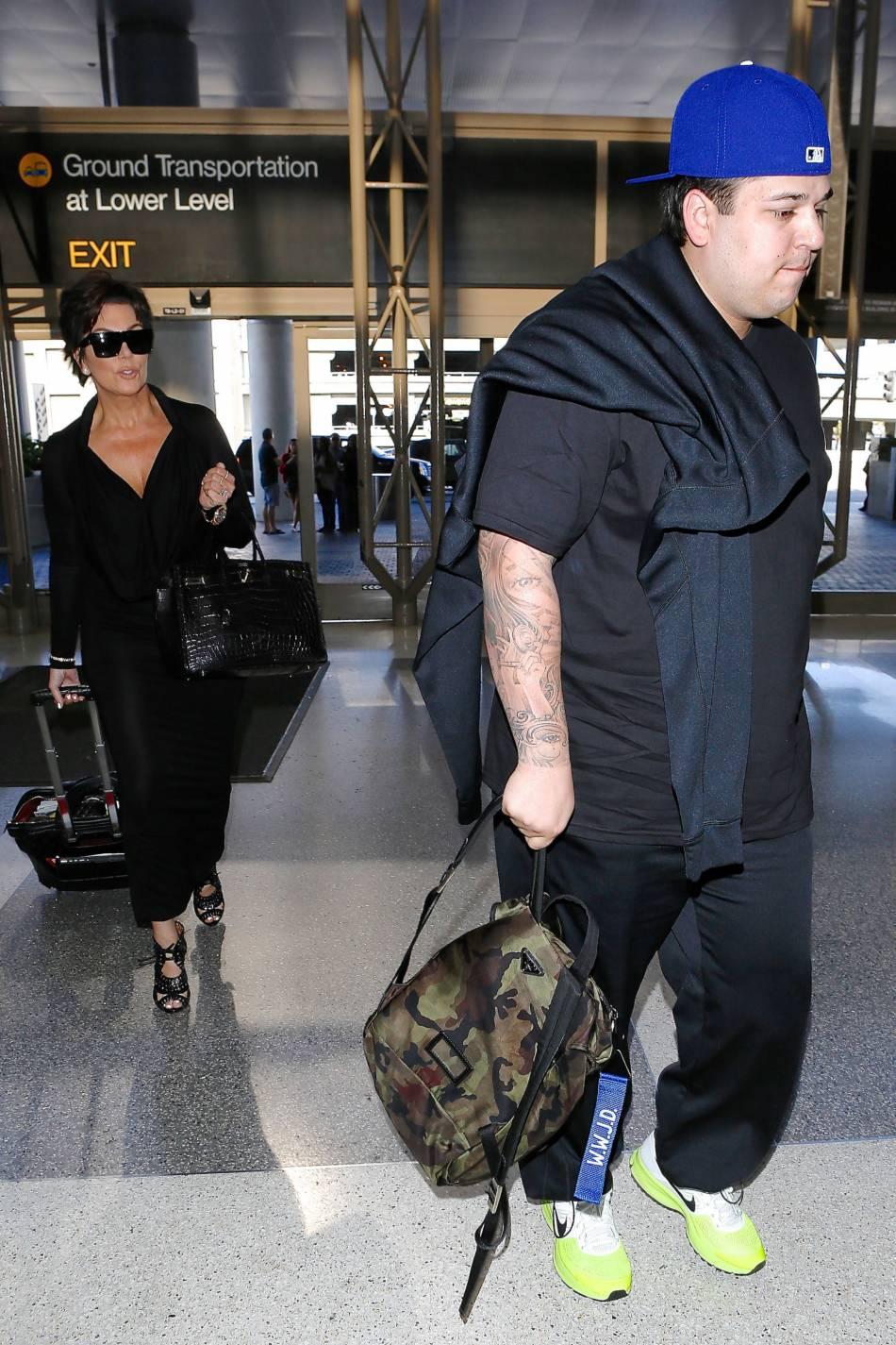 Rob Kardashian et sa mère Kris Jenner en 2015.