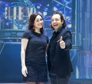 Nathalie Péchalat et Philippe Candeloro lors de la présentation de leur projet commun avec Hollyay on Ice.