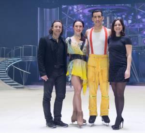 """Nathalie Péchalat et Philippe Candeloro : deux anciens champions au service de la compagnie Hollyday on Ice pour le show """"Believe""""."""