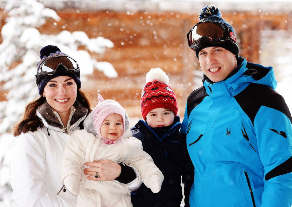 Kate Middleton, le prince William et leurs enfants se sont échappés à la montagne.