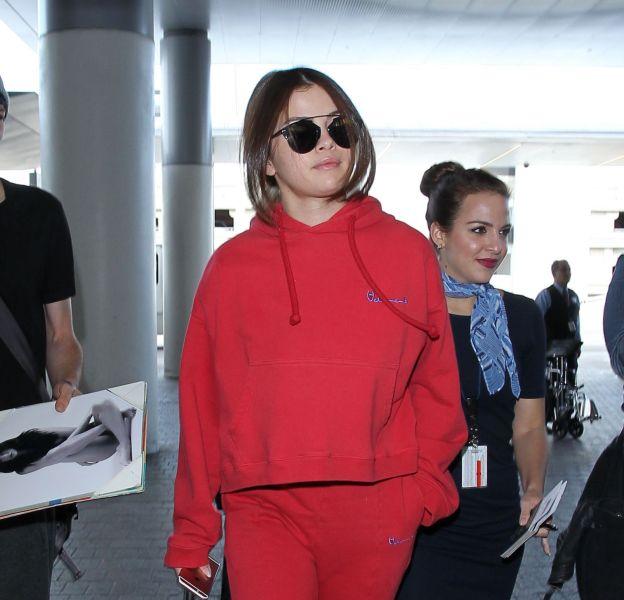 Selena Gomez à l'aéroport de Los Angeles le 7 mars 2016.