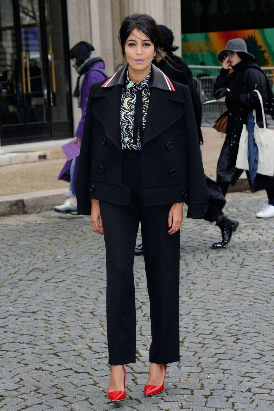 Leïla Bekhti, chic et sophistiquée à souhait pour la Fashion Week.