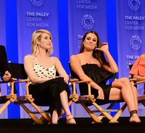 """Jamie Lee Curtis, Emma Roberts, Lea Michele, Niecy Nash, Keke Palmer, Abigail Breslin et Billie Lourd au PaleyFest de Los Angeles pour la saison 2 de """"Scream Queens"""" le 12 mars 2016."""
