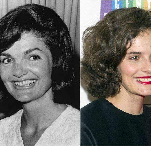 Jackie Kennedy en 1964 et Rose Kennedy Schlossberg en 2014.