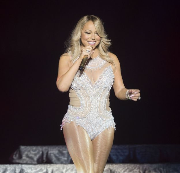 Mariah Carey en concert ce mardi 15 mars 2016 à Glasgow.