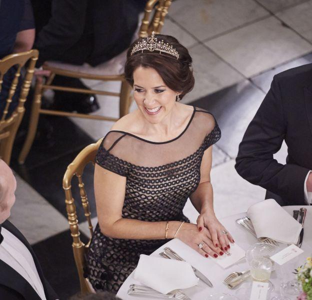 La princesse Mary de Danemark lors d'un banquet en l'honneur des Arts et de la Culture au palais Christiansborgà Copenhague le 15 mars 2016.