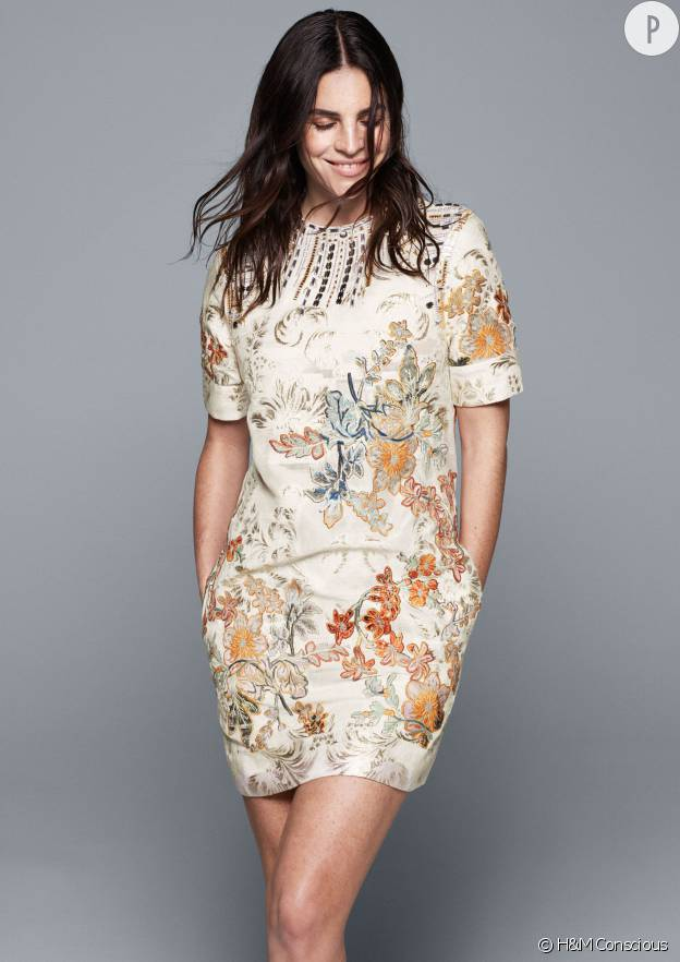 Julia Restoin-Roitfeld égérie de la nouvelle collection H&M Conscious Exclusive.