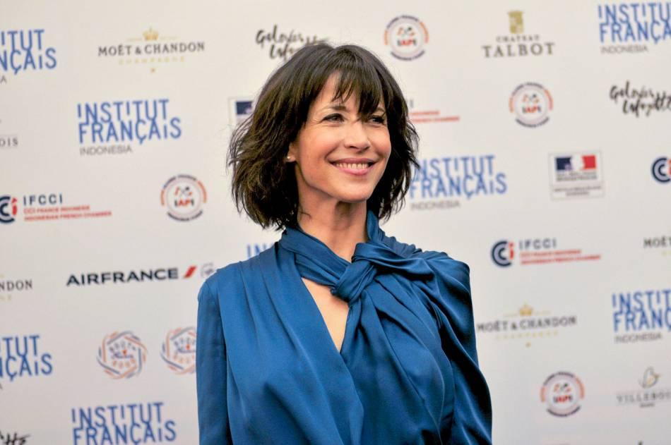 Sophie Marceau, superbe ambassadrice de la cuisine française à Jakarta.